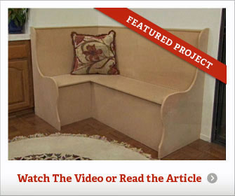 How to Build a         Simple and Inexpensive Breakfast Nook or Banquette - screenshot